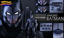 Hot Toys Batman VS Superman Dawn Of Justice Armored Black Chrome Ver + Tee Ship