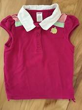 EUC GIRL GYMBOREE CANDY APPLE PINK POLO TOP TEE SHIRT 6