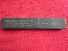 COLUMBIA CUTLERY Co. WORCESTER MASS. STRAIGHT RAZOR EMPTY BOX ONLY