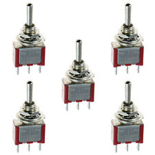 5x New Car On / Off Mini Miniature Toggle Switch Car Dash Dashboard SPST ssk