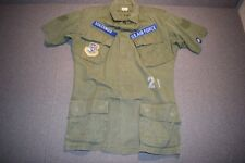 Genuine US ARMY Tropical Jungle Jacket, 3rd pattern, Vietnam War, 100% cotton.