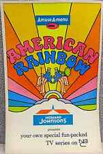 1970 HOWARD JOHNSON GIVEAWAY PROMO AMUSE A MENU SERIES 3 NM AMERICAN RAINBOW NBC