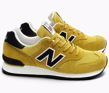 $200 NEW BALANCE M670SMY MADE IN ENGLAND YELLOW BLACK ATHLETIC SNEAKER SHOE 10 D