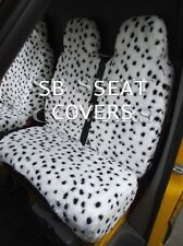 TO FIT A TOYOTA HIACE VAN, SEAT COVERS, DALMATIAN FAUX FLUFFY FUR