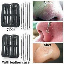 7Pcs Blackhead Whitehead Pimple Blemish Acne Comedone Extractor Remover Tool Kit