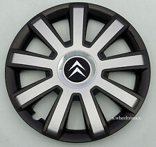 "Brand new black/silver 14"" wheel trims hubcaps to fit Citroen  C1,C2,Saxo"