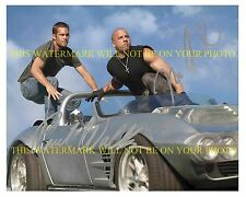 THE FAST AND FURIOUS CAST VIN DIESEL AND PAUL WALKER AUTOGRAPHED 8x10 RP PHOTO