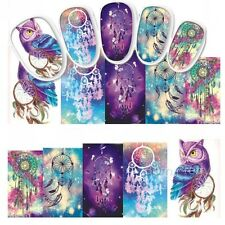 Nail Art Sticker Water Decals Transfer Stickers Mystic Owl Dreamcatchers (DS437)