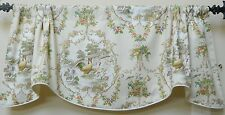P. KAUFMANN COUNTY FAIR- CREAM - WINDOW VALANCE / FRENCH COUNTRY ROOSTER TOILE