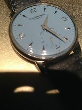 Vintage Girard-Perregaux men's watch.  Large 38mm Case with Unusual Blue Dial.