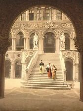 VINTAGE PHOTOGRAPHY ARCHITECTURE STAIRCASE GIANT VENICE ITALY POSTER LV4835