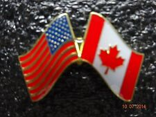 Canada /American Flag Lapel pin flags attached very nice NEW!
