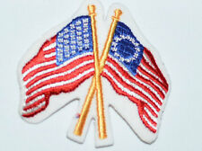 Betsy Ross America USA Flag Sew-on Vintage Embroidered Clothing Patch Applique