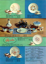 1960 PAPER AD Knowles Oven Proof China Dinnerware Pink Dogwood Prolon Melamine