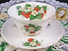 SHELLEY STRAWBERRY FIELDS CHESTER SHAPE TEA CUP AND SAUCER