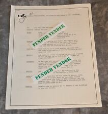 G&L Musical Products 1987 Company Policies 4-Pages For Full Time Employees