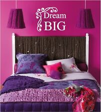 Dream BIG Wall Sticker Wall Art Decor Vinyl Decal Wall Girls Room Lettering