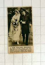 1920 New Zealand Wedding Miss Quane Weds Lieutenant Mcmaster
