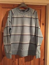 GEORGE Mens Blue Striped Long Sleeved Top Size M