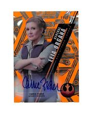 2016 Topps Star Wars High Tek Carrie Fisher /25 auto autograph orange magma card