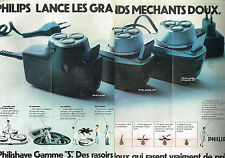 "PUBLICITE  1973   PHILIPS   rasoir PHILSHAVE GAMME ""S"" ( 2 pages)"