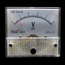 DC 5V Analog Panel Volt Voltage Meter Voltmeter Gauge 85C1 0-5V DC White