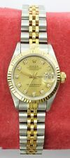 Rolex Oyster Perpetual Diamond Dial 67193 Datejust Wrist Watch for Women