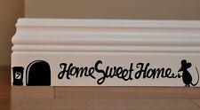 Maus Home Sweet Home Wandaufkleber Wandsticker Wandtattoo Kinderzimmer