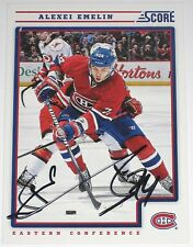 ALEXEI EMELIN SIGNED 12-13 SCORE MONTREAL CANADIENS CARD AUTOGRAPH AUTO!!!