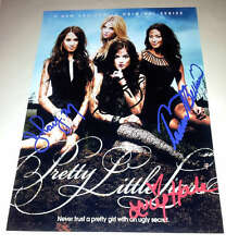 "PRETTY LITTLE LIARS CAST X4 PP SIGNED POSTER 12""X8"" LUCY HALE SHAY MITCHELL"