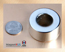 """1 SUPER STRONG Neodymium rare earth Ring Magnet 1 1/2""""od x 3/4""""id x 3/4""""thick"""