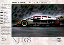 JAGUAR XJR8 WORLD SPORTSCAR SILK CUT RACER RETRO A3 POSTER PRINT FROM 80S ADVERT
