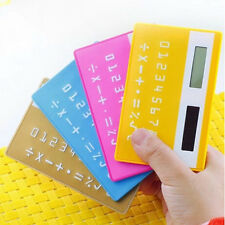 Great 8 Digits Credit Card Solar Power Pocket Calculator Novelty Small Travel  F