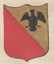 1865 Stemma di Melzo (araldica civica), Milano, litografia acquarellata