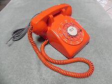 1961 Western Electric Bell System 500 Rotary Desk Telephone w/ Orange ITT Covers