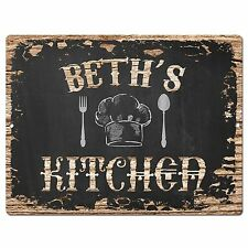 PP2030 BETH'S KITCHEN Plate Chic Sign Home Room Kitchen Decor Birthday Gift