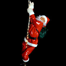 2 Meter LED Lichterseil mit 90cm Weihnachtsmann Santa Claus Weihnachtsdeko Xmas