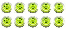 TEN Stick-on 14mm X 8mm Disc Bubble Spirit Level Round Circular Circle Yellow s