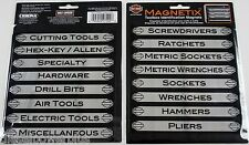 16 tool box magnets snap on matco craftsman label harley davidson bike HD drawer
