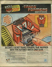 Transformers Hasbro Watch 1985 Comic Magazine Advert #17698