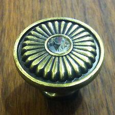 30mm Vintage Möbelgriff Knob Knopfgriff Messing Möbelknopf Rund-Griffe