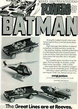 1977 ADVERT Corgi Juniors Toy Batmobile Batman Helicopter Wave Runner 2 Sided