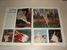 CARLA FRACCI DANZA BALLERINA cantante clipping ritaglio articolo foto photo 1957