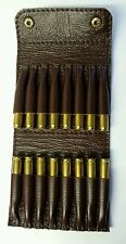 .223/.204/.222  Bullet wallet. Brown real leather. With studs.