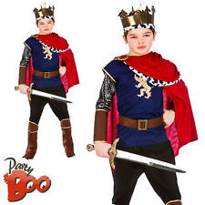 Medieval King Ages 5 6 7 Boys Royal Knight Fancy Dress Kid Childs Deluxe Costume