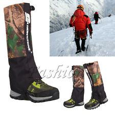 Outdoor 1 Pair Waterproof Hiking Walking Climbing Hunting Snow Legging Gaiters