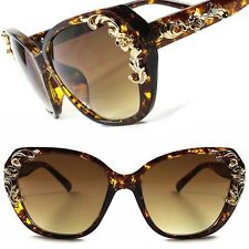 Tortoise Fashion Vintage Style Hot Womens Sexy Baroque Cat Eye Sunglasses C20