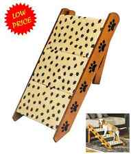 Convertible Pet Ramp Steps Dog Cat. Bed Stairs Step Easy, Wood 2 in 1 Staircase