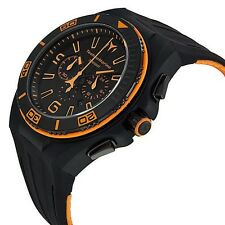 New Mens TechnoMarine 112005 Night Vision II Chronograph Black PVD Strap Watch