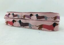 "One Metre Pink Dachshund Dog Jacquard Ribbon Trim  7/8"" 22mm 100% Polyester"